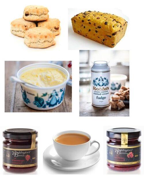 Cream Tea with Saffron Fudge