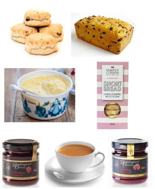 Cream Tea with Saffron SC Shortbread