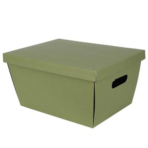 34502 large tapered hamper box green